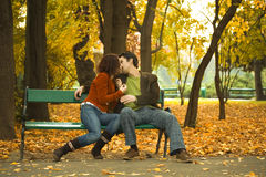 Couple in the park Royalty Free Stock Photography