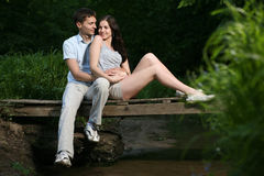 Couple in the park. Stock Photography