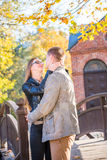 Couple in park Stock Photography