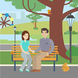 Couple in park. Stock Photo