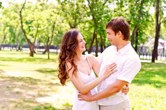 Couple in the park Stock Images