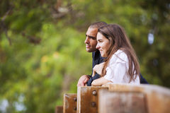 Couple at the park Stock Images