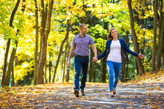 Couple in the park Royalty Free Stock Photos