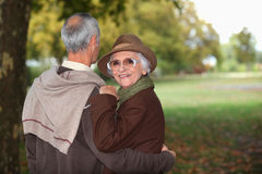 Couple in a park Stock Images