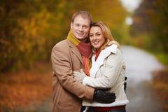 Couple in park Stock Photos