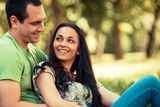 Couple in park Royalty Free Stock Photo