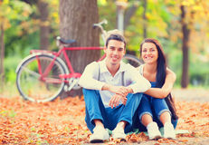 Couple in the park Stock Photos