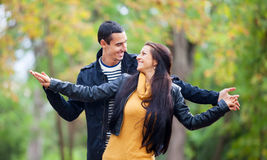 Couple at the park Stock Image