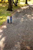 Couple Park Walk Stock Photo