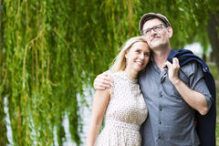 Couple in a park Stock Photography
