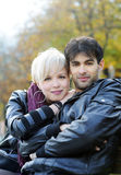 Couple in the park Royalty Free Stock Images