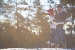 Couple in park Stock Image