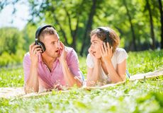 Couple in park Royalty Free Stock Photography