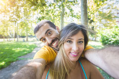 Couple at Park Stock Photos