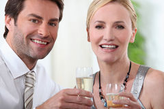 Couple at a party Royalty Free Stock Photo