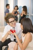 Couple at party Royalty Free Stock Photo