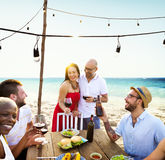 Couple Party Hostess Friends Hanging out Concept Royalty Free Stock Photo