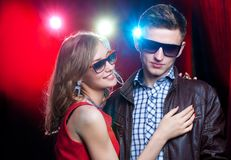 Couple on party Royalty Free Stock Image