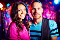 Couple at party Stock Photography