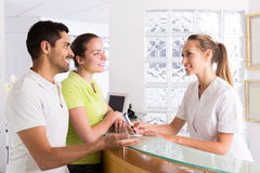 Couple patients visiting clinic Royalty Free Stock Photography