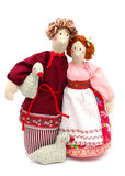 Couple of peasants in traditional dress Stock Photography