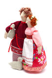 Couple of peasants in traditional dress Royalty Free Stock Image