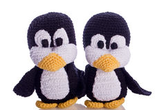 Couple of penguin. Couple of black and white penguin stuffed animal Royalty Free Stock Photography