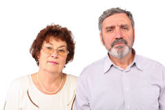 Couple of pensioners pose Stock Photography