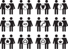 Couple people icons Stock Photography