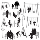 Couple people in park vector Royalty Free Stock Photography