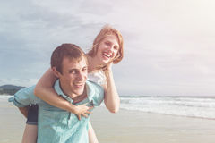 Couple people or tourist from europe with happy and relax time o Stock Photo