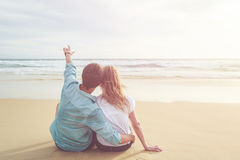 Couple people or tourist from europe with happy and relax time o Stock Image