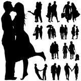 Couple people vector Royalty Free Stock Photography