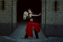 Couple ballroom dancing. Royalty Free Stock Photo