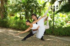 Couple performing ballet Royalty Free Stock Image