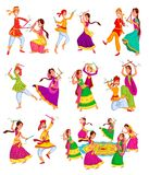 Couple performing Dandiya Royalty Free Stock Photos
