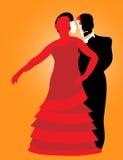 Couple performing flamenco dance Stock Image