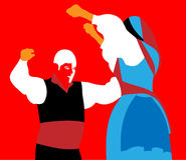 Couple performing flamenco dance Stock Photo