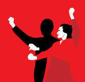 Couple performing flamenco dance Royalty Free Stock Image