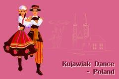Couple performing Kujawiak dance of Poland Stock Image