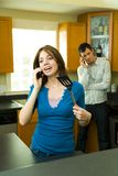 Couple on the Phone Stock Photo