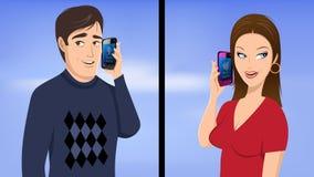 Couple Phone Talking Stock Photos