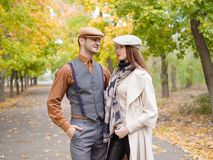 Couple photo in garden royalty free stock images