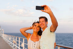 Couple photo cruise Royalty Free Stock Photography