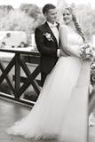 Couple photo shoot at the wedding day Stock Photos