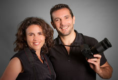 Couple of photographers Royalty Free Stock Image