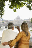 Couple Photographing Cathedral In Rome Stock Image