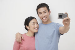 Couple Photographing Themselves Royalty Free Stock Photo
