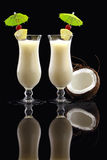 A couple of Piña Colada cocktails Royalty Free Stock Image