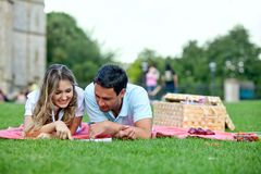 Couple at a picnic Royalty Free Stock Photography